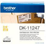 Label Roll Dk-11247 Black On White