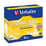 DVD+rw Media 4.7GB 4x Datalife Plus 5-pk With Jewel Case