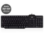 keyboard with Smart Card Reader USB Azerty (BE) Layout