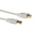 USB 2.0 Extension Cable USB A Male - USB A Female Ivory 1.8m
